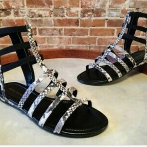 "Marc Fisher Leather Gladiator Sandals ""Pritty"""